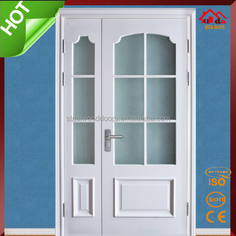 Type of room wood glass interior double door buy for Types of glass used in interior
