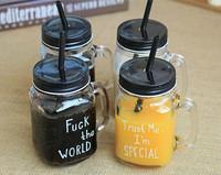 HOT SALE !!! glass jars plastic seal lids