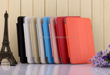 2015 Stylish Silk Grain stand flip tablet leather for huawei mediapad smart cover china suppliers