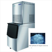 commercial large dual system flake snow ice maker machine for sale
