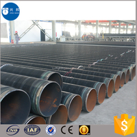Plumbing materials API5L spiral steel pipe with FBE coated inner and outer for Sri Lanka oil pipeline system