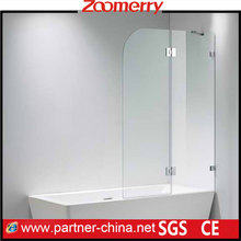 """1/4"""" Clear Tempered Glass Shower Screen Reversible for Door Opening"""