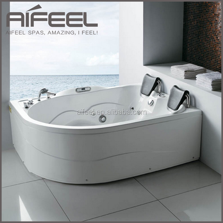 Bathroom acrylic 2 person indoor whirlpool massage small - Whirlpool tubs for small bathrooms ...