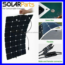 100w Mono sun power flexible solar panel system for yacht boat RV boat pv module