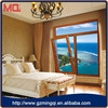 2015 interior aluminum double glass titl and turn window for house