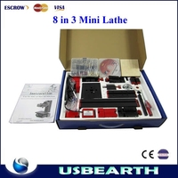 All Metal Multi-Functiona 8-in-3 chinese Mini Lathe Modular Machine Tool For wood and Soft Metal