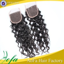 Hot selling with free parting virgin cheap human hair lace closure
