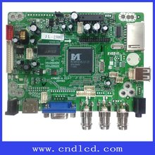 LCD Advertising board with real time clock function