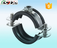 stell rubber galvanized metal screw clamp