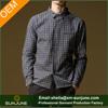 Men's long-sleeved british plaid cotton shirt