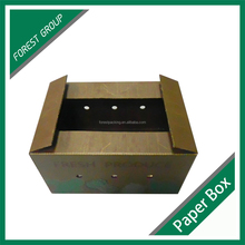 NEWEST DURABLE CUSTOM CHEAP WAX CORRUGATED PAPER PACKAGING VEGETABLE BOX WHOLESALE