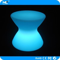 Modern cute LED luminous light table chair / LED plastic rgb 3d decorative tables