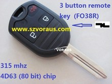higher quality Ford 3 button Ignition key remote key 315 mhz (4D63 80 bit) chip )