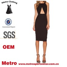 Latest fashion office women's cut out dress Casual stylish custom design