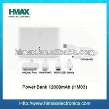 li-polymer power bank HM-03 12000mAh power bank for macbook pro /ipad mini