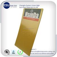 Non-toxic gold electrostatic powder paint