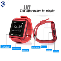 New design High QualitY touch screen MTK2502 waterproof bluetooth smart watch with heart rate sensor for android and IOS phone