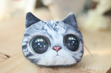 2015 Fluffy cat head &mk wallets in china &little change purse