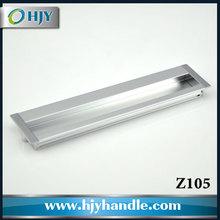 China hardware manufacturer zinc alloy furniture flush pull handle