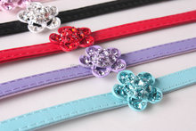luxury and high quality diamante middle flower dog collar