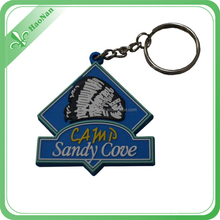 Popular branded custom metal car logo key chain