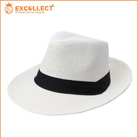 Cheap Promotional Panama Hat Woven Paper Hat With Various Color Available