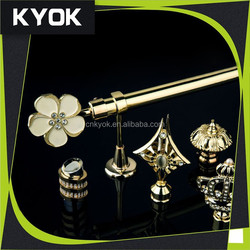 KYOK contemporary curtain rod finials, curtain rod round metal pipe, wrought iron shower curtain brackets
