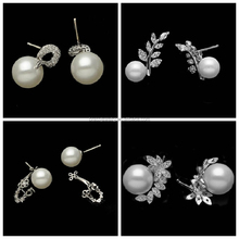 Vogue Jewelry Photo Pretty Women's Many Different Types Fashionable Pearl Stud Earrings