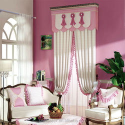 2015 new design curtain fresh lovely environmental print hook curtain