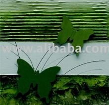 Butterfly Abstract, acrylic painting, on canvas, handmade , 70x100cm (28x40inc), exclusive brazilian art, Available in various
