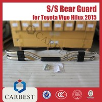 High Quality New Stainless Steel Rear Guard for Toyota Pickup Hilux Revo Vigo 2015