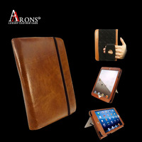 Multifunction genuine leather wallet cover for ipad air 2 case