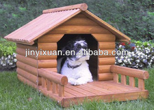 Outdoor Wooden Dog Kennel Buildings with Porch
