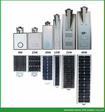 2015 new products adjustable outdoor lighting solar panel led street light 20w 30w 40w integrated solar street light