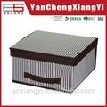 tela de algodón romántico cometic rectángulo de papel junta superior pequeña caja de almacenamiento de cajón de madera