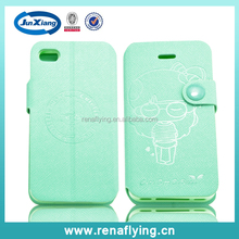 custom logo wallet cell phone case cover for iphone 5