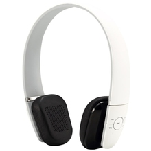 Voix Blu Universal Bluetooth Stereo Headset with Volume Control Key and NFC Touch Pairing Function for Audio Devices(White)