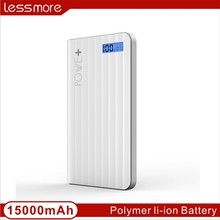 Wholesale USA backpack power bank for tablet 15000mah real capacity