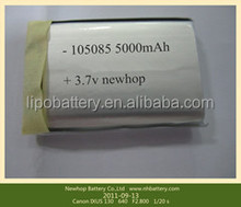 High quality 105085 3.7V 5000mAh lipo battery for PDA digital products