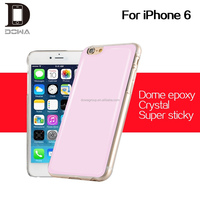 Easy clean sticky glass gel cover phone shell