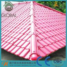 Brand new spanish style villa roofing shingles color steel material synthetic resin roof tile