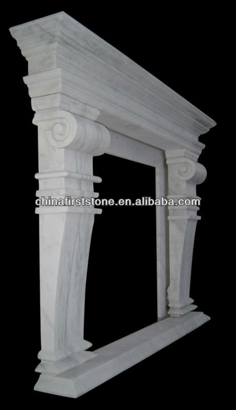 MFI134 White Electric Marble Fireplace