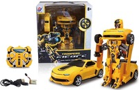 Hot Selling Voices and Lamps Kids Gift Remote Control Transforming Robot Car Vehicle Toys