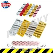 Driveway Red/White/Yellow 45beads Glass Beads Plastic Panel