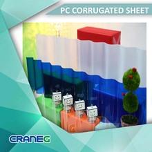 Polycarbaonte solar plastic corrugated clear sheet Taiwan