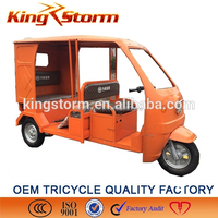 Open Body Type and 60V Voltage electric tricycle for passenger
