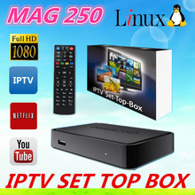 iptv ott tv box mag250 with hd cable wifi adapter CAt5 optional IN STOCK mag250 iptv UK EU US PLUG mag 250 iptv box