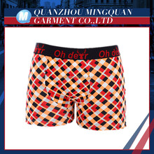 new fashionable design all-over print colourful boxer shorts for men