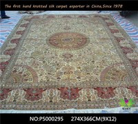 500L high quality silk rugs in stock modern style living room hand knotted rugs for sale