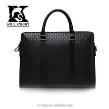 SK-T004 Top grade real leather embossed business bag laptop handbag for men